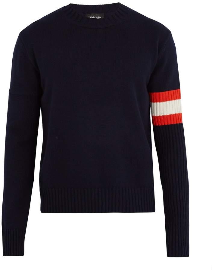 Calvin Klein Contrast-sleeve cashmere sweater