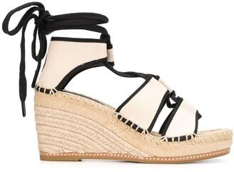 Tory Burch 90mm Braided Wedge Sandals