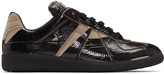 Maison Margiela Black & Taupe Tape Replica Sneakers