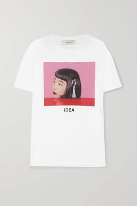Valentino Izumi Miyazaki Idea Printed Cotton-jersey T-shirt - White