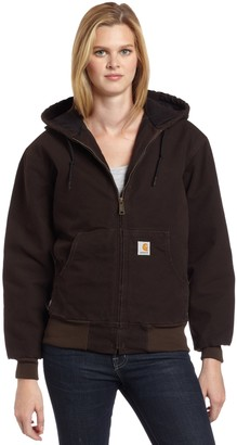 Carhartt Women's Quilted Flannel Lined Sandstone Active Jacket WJ130