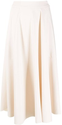 Alysi Draped Gathered Skirt