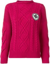 Mr & Mrs Italy Logo Cable-Knit Sweater
