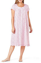 Eileen West Plus Heart-Print Jersey Waltz Nightgown