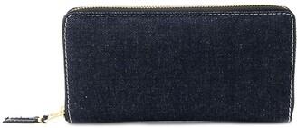 Comme des Garcons denim zip around wallet
