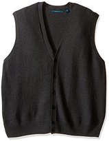 Perry Ellis Men's Big and Tall Solid Texture Sweater Vest