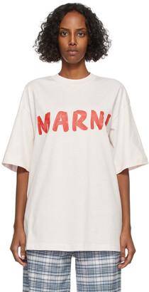 Marni Pink Lettering Logo T-Shirt