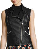 Decree Pleather Moto Vest