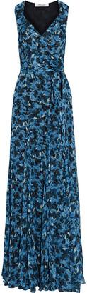 Diane von Furstenberg Brennan Floral-print Georgette Maxi Wrap Dress