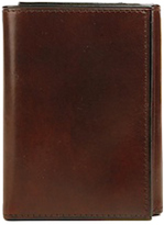 Bosca Men's Old Leather Double I.D. Trifold