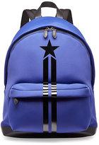 Givenchy Star & Stripe Neoprene Backpack, Blue