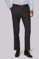Moss Bros Tailored Fit Charcoal Birdseye Pants