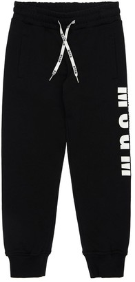 MSGM Cotton Sweatpants W/ Logo