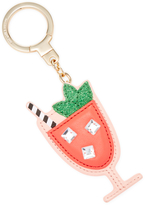 Kate Spade Passion Fruit Drink Leather Key Fob