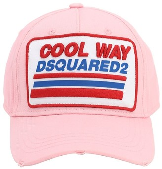 DSQUARED2 Patchwork Cotton Baseball Hat