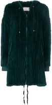Yves Salomon zipped fur coat