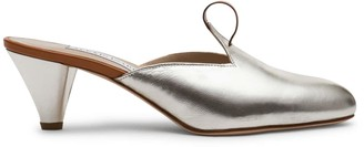 Alexis Isabel Amata Gold Metallic Leather Mules