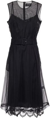 Simone Rocha Belted Layered Tulle Midi Dress