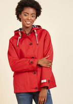 Joules Rainy Day Dreamer Waterproof Jacket in Red in 14