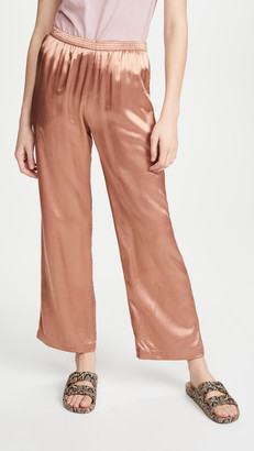 Enza Costa Satin Lounge Pants