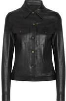 The Row Coltra Bonded Stretch-leather Jacket - Black