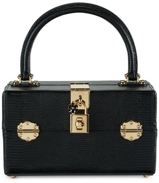 Dolce & Gabbana Leather Top Handle Box Bag