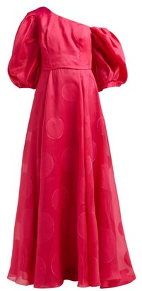 Carolina Herrera Fil-coupe Silk-blend Organza Gown - Fuchsia