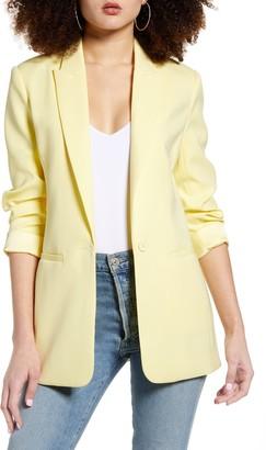 Endless Rose Tailored Single Button Blazer