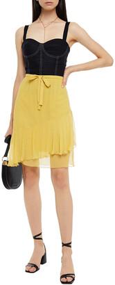 See by Chloe Crepon Mini Skirt