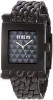 Versus By Versace Men's 3C71800000 Pret Rectangular Black IP Stainless Steel Brown Dial Watch