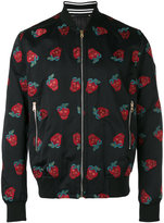 Paul Smith embroidered strawberries bomber jacket - men - Cotton/Linen/Flax/Cupro - S
