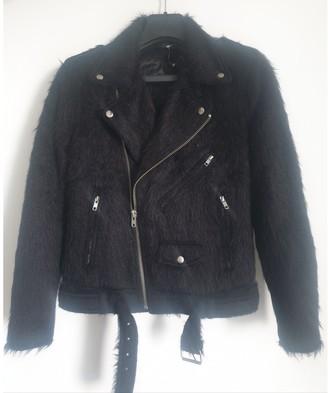 BLK DNM Black Wool Jacket for Women