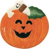 Fitz & Floyd Pumpkin And Ghost Canape Plate