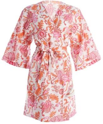 Roller Rabbit Amanda Paisley Print Kimono Robe