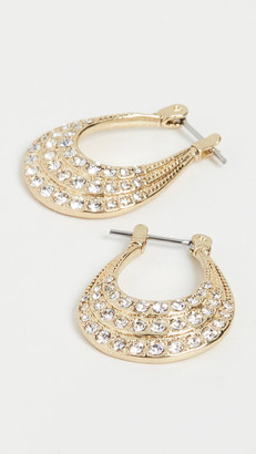 Luv Aj The Diana Pave Hoops