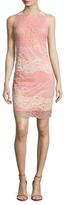 Alexia Admor Lace Striped Sheath Dress