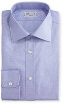 Charvet Small Check Dress Shirt, Lavender