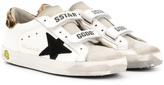 Golden Goose Kids embroidered star leopard print detail sneakers