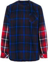 Sacai plaid dual colour shirt