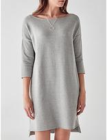 Great Plains Kitten Soft Long Sleeve Tunic Dress, Granite Grey Melange