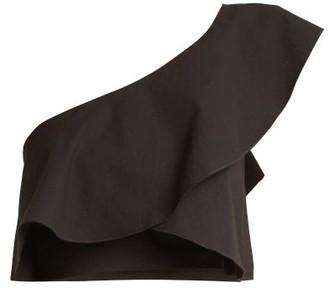 Isabel Marant Hayo One-shoulder Ruffle Crop-top - Womens - Black