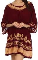 Sakkas 092 Ketana Batik Tunic Cover Up - Black / White