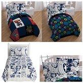 Spiderman Marvel Comic Heroes 5 Piece Kids Full Bedding Set - Reversible Comforter, Sheet Set with 2 Reversible Pillowcases