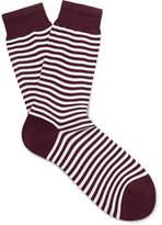 Sunspel Striped Mercerised Cotton-Blend Socks