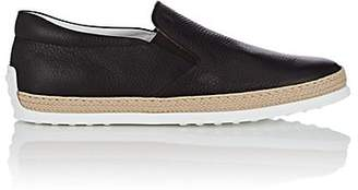 Tod's Men's Pantofola Leather Espadrille Sneakers - Brown