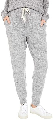 Lucky Brand Brushed Hacci Joggers (Heather Grey) Women's Casual Pants