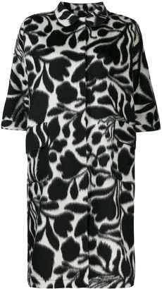 Sara Lanzi graphic print midi coat