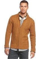 Sean John Sweater, Lux Zip-Up Cardigan