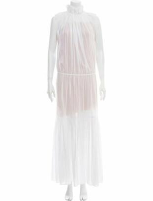 Stella McCartney Mock Neck Long Dress White