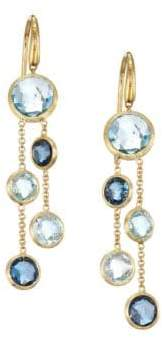 Marco Bicego Jaipur 18K Yellow Gold& Topaz Drop Earrings